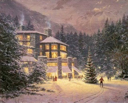 Thomas Kinkade Christmas at Ahwahnee