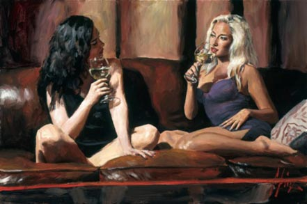 fabian perez blonde and brunette
