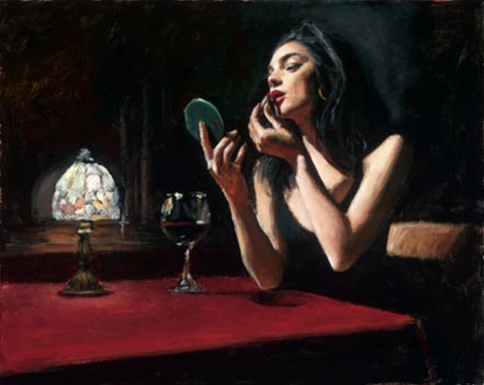 fabian perez eugenia with red