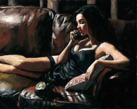 fabian perez eugie on the couch ii