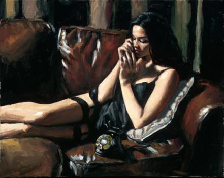 fabian perez eugie on the couch