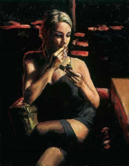 fabian perez monika at night club ii