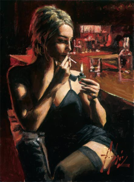 fabian perez monika at night club