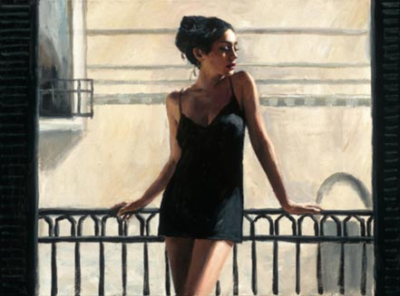 fabian perez vanessa at the balcony