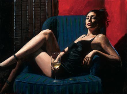 fabian perez vanessa in blue chair ii