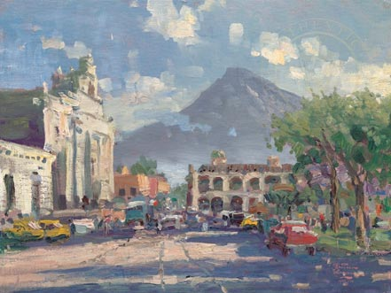 thomas kinkade antigua sunset guatemala