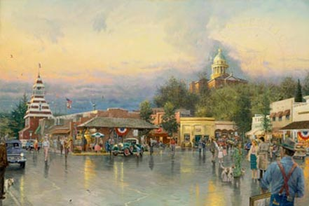 thomas kinkade main street courthouse