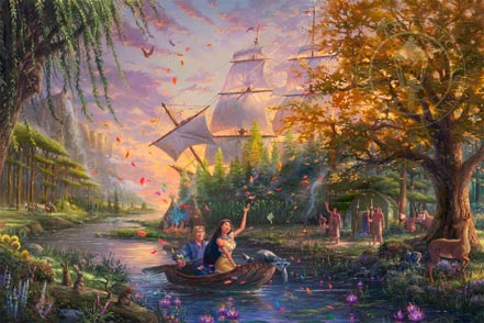 thomas kinkade pocahontas colors of love