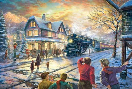Awe Inspiring All Aboard For Christmas By Thomas Kinkade Home Interior And Landscaping Ologienasavecom