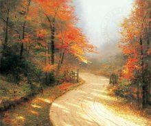 thomas kinkade autumn lane