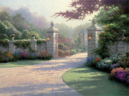 thomas kinkade summer gate