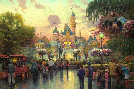 thomas kinkade disneyland 50th annivesary