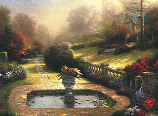 Thomas Kinkade Gardens Beyond Autumn Gate