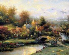 Lamplight Village by Thomas Kinkade