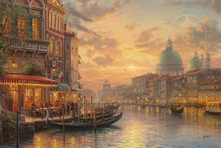 thomas kinkade venetian cafe
