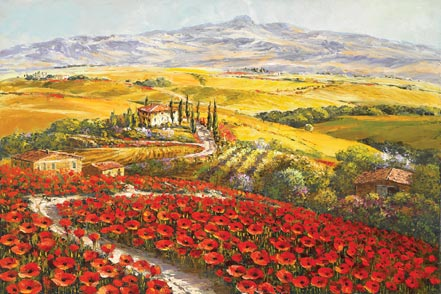 sam park tuscany in red and gold