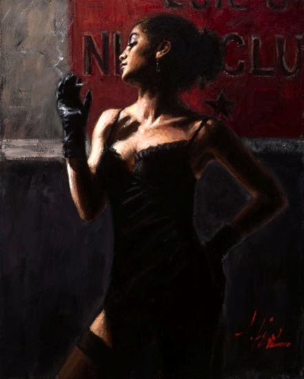 fabian perez sensual touch in the dark ii