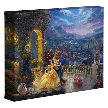 Beauty and the Beast Dancing in the Moonlight – 8″ x 10″ Gallery Wrapped Canvas