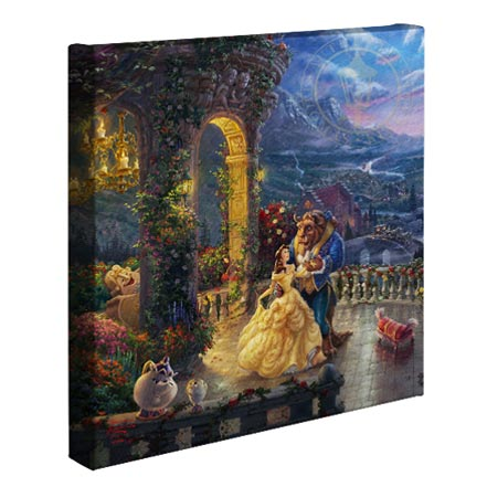 Beauty and the Beast Dancing in the Moonlight – 14″ x 14″ Gallery Wrapped Canvas