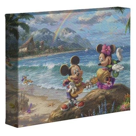 "Mickey and Minnie in Hawaii – 8"" x 10"" Gallery Wrapped Canvas"