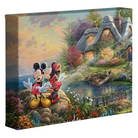Mickey and Minnie - Sweetheart Cove – 8″ x 10″ Gallery Wrapped Canvas
