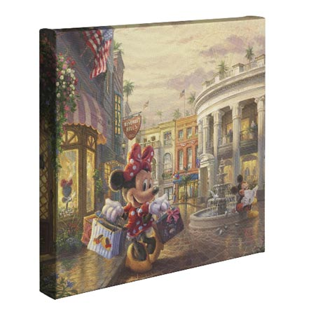 """minnie rocks the dots on rodeo drive - 14"""" x 14"""" - gallery wrapped canvas"""