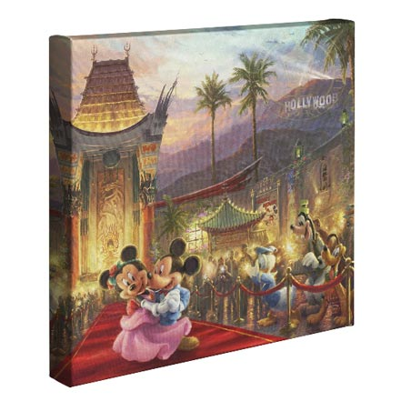 Mickey and Minnie in Hollywood – 14″ x 14″ Gallery Wrapped Canvas