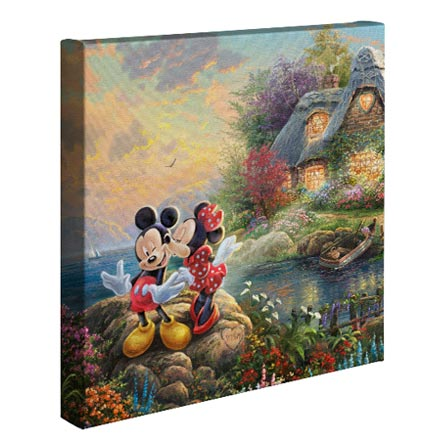 Mickey and Minnie Sweetheart Cove – 14″ x 14″ Gallery Wrapped Canvas