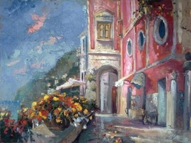 Steve Quartly Palazzo Sazzo Original Oil Painting