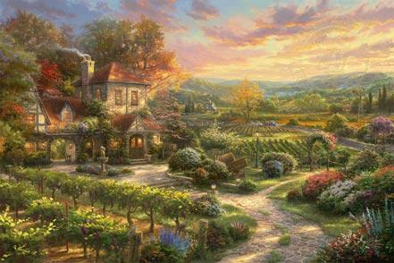 thomas kinkade wine country living