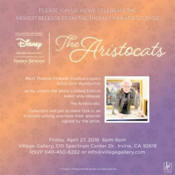 Village Gallery Thomas Kinkade Disney Event The Aristocats