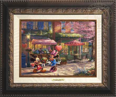 thomas kinkade mickey and minnie sweetheart cafe