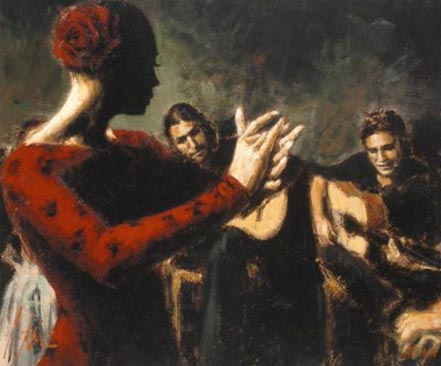 fabian perez study for flamenco v