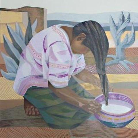 mario cespedes woman washing hair