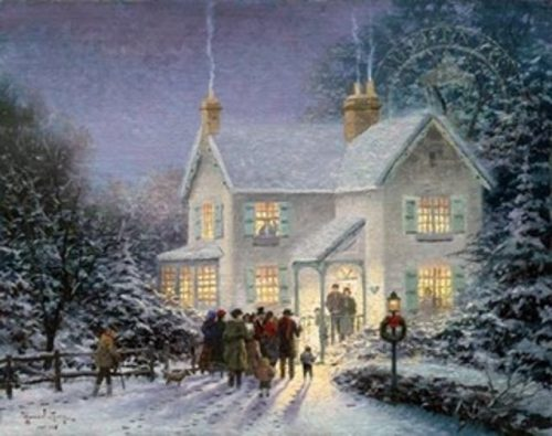 Thomas Kinkade Evening Carolers