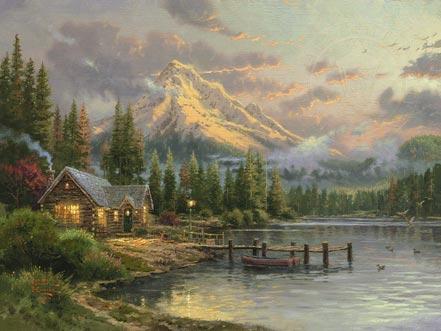 thomas kinkade lakeside hideaway