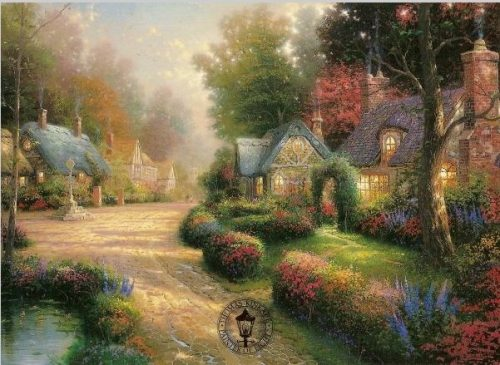 Thomas Kinkade Cobblestone Lane