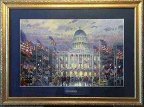 Thomas Kinkade Flags Over The Capital