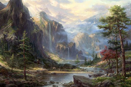 thomas kinkade high country wilderness