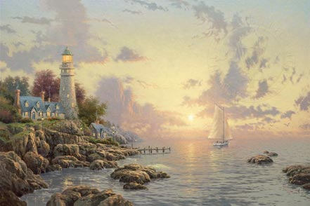 thomas kinkade sea of tranquility