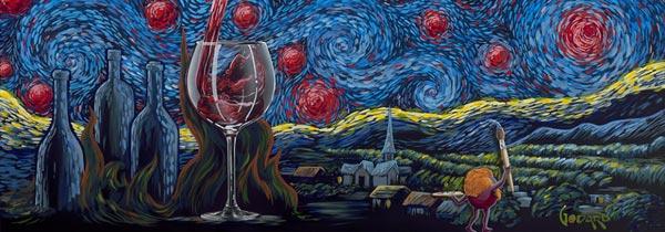 michael godard starry starry wine