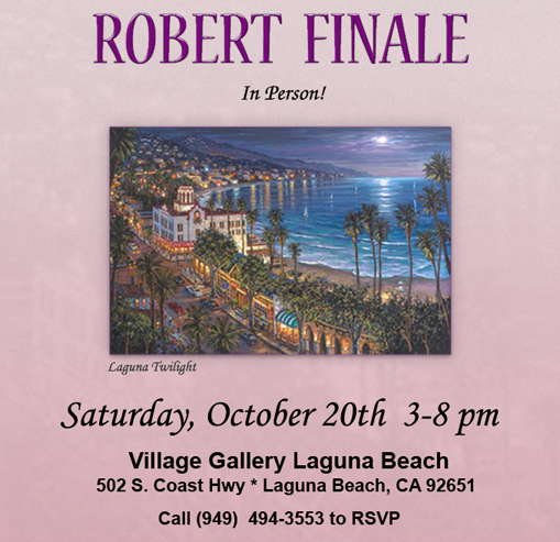 Robert Finale Art Show Village Gallery Laguna Beach