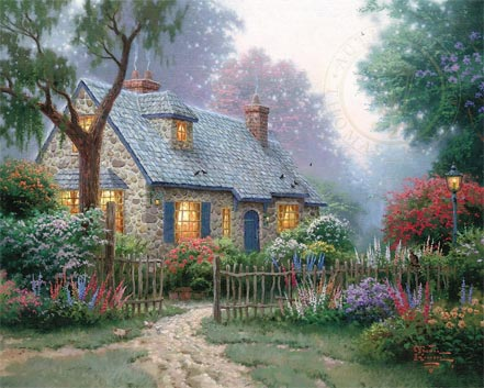thomas kinkade foxglove cottage