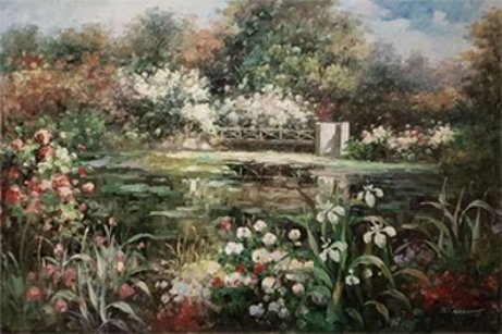 T Garland Lily Pond Reflection