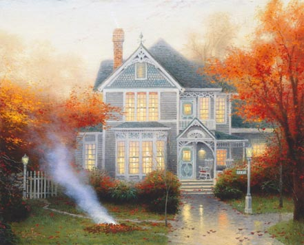 thomas kinkade amber afternoon