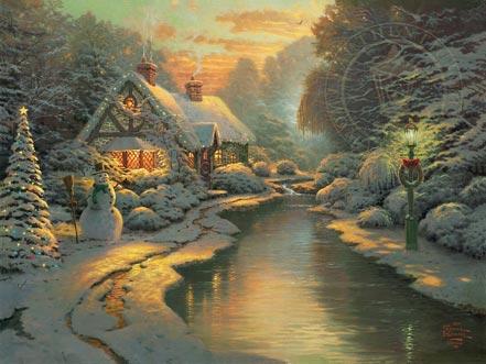 thomas kinkade christmas evening