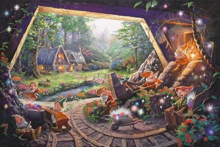 thomas kinkade snow white and the seven dwarfs
