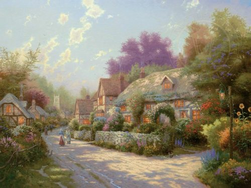 thomas kinkade cobblestone village