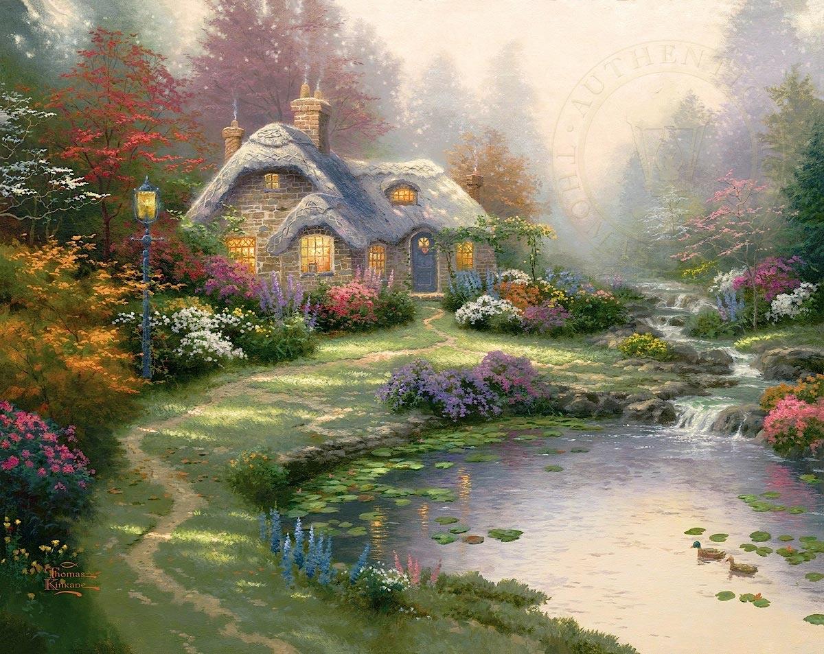 thomas kinkade everetts cottage