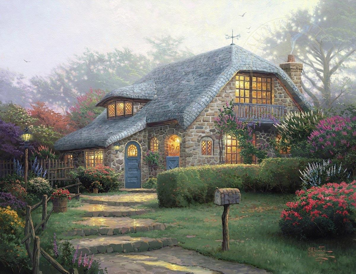 thomas kinkade lilac cottage